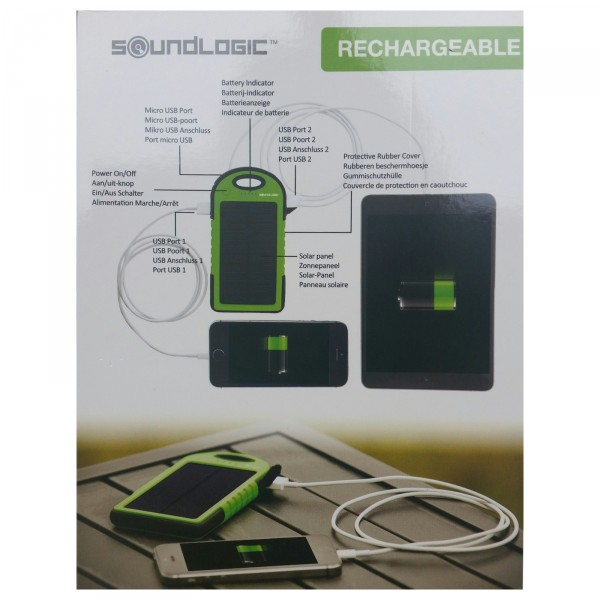 powerbank solar mobiler akku 5000mah ladeger t usb handy wasserdicht ebay. Black Bedroom Furniture Sets. Home Design Ideas