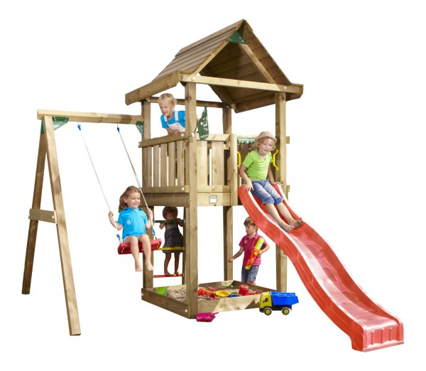 jungle gym lillis house spielturm set mit einzelschaukel rutsche sandkasten ebay. Black Bedroom Furniture Sets. Home Design Ideas