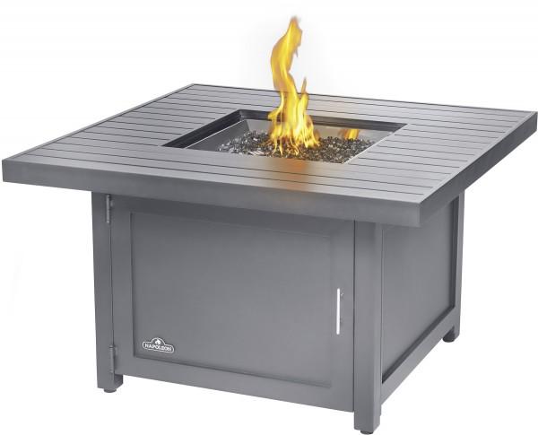 Feuertisch THE HAMPTONS Quadratisch Grau