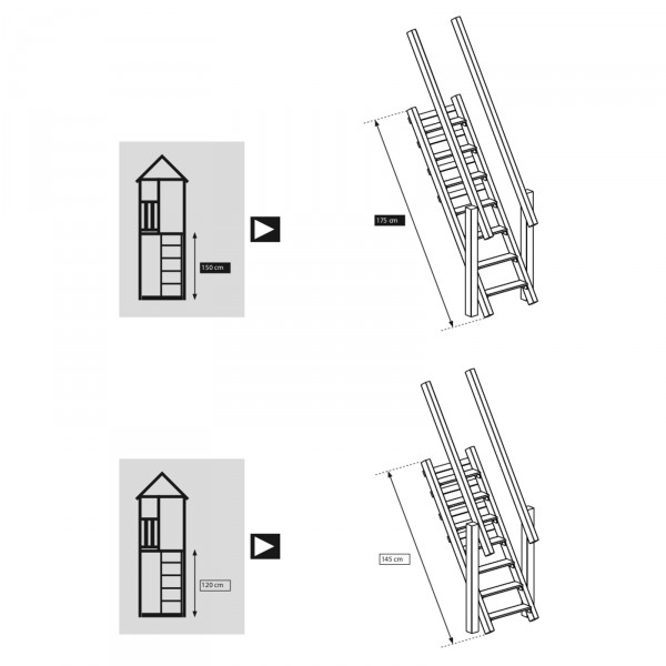 blue rabbit anbaumodul treppe steps f r spielt rme leiter spielturm zubeh r ebay. Black Bedroom Furniture Sets. Home Design Ideas