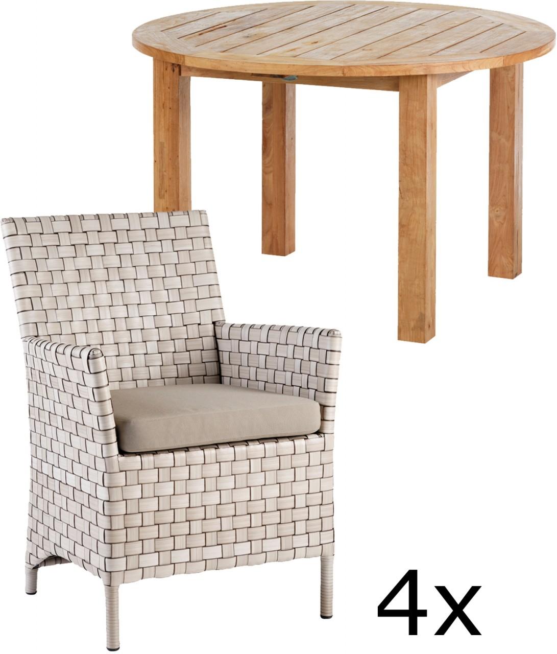 geflecht gartenmoebel set preis vergleich 2016. Black Bedroom Furniture Sets. Home Design Ideas