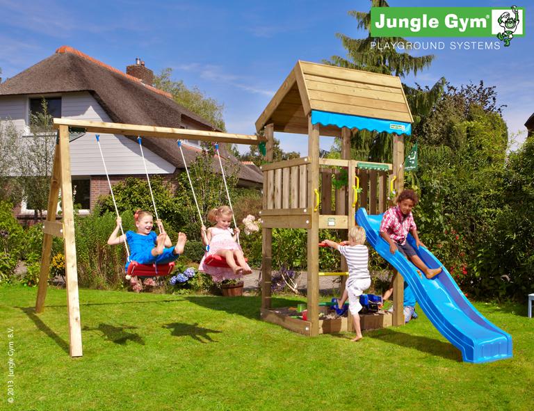 jungle gym lottas home spielturm set mit schaukel rutsche sandkasten leiter ebay. Black Bedroom Furniture Sets. Home Design Ideas