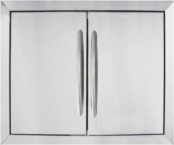 Einbau-Doppeltüre Edelstahl