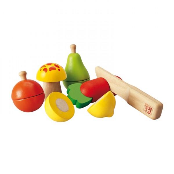 Obst und Gemüse schneiden
