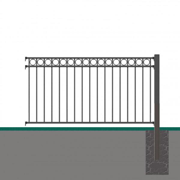 Vorgartenzaun Anbau-Set CIRCLE