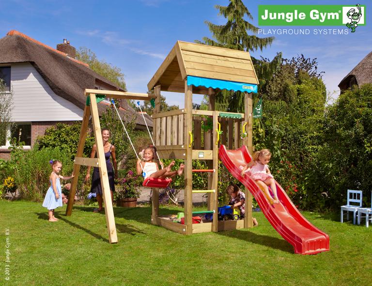 jungle gym sinas home spielturm set mit einzelschaukel. Black Bedroom Furniture Sets. Home Design Ideas