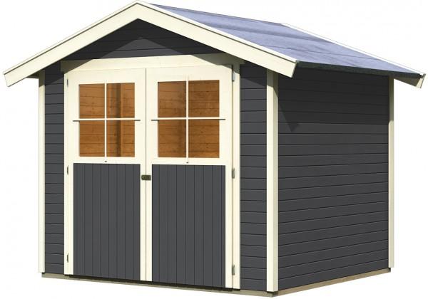 Gartenhaus Geräteschuppen HARBURG 4 terragrau 2,42 x 2,17 m