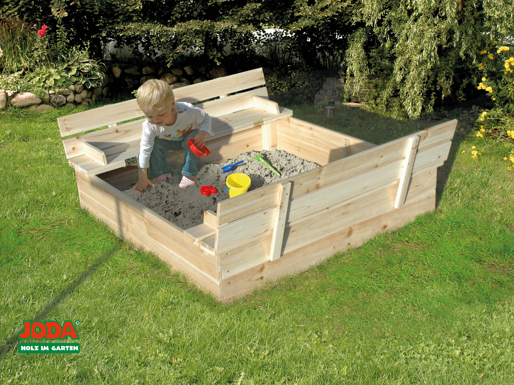 sandkasten mit abdeckung lukas 1 24 x 1 24 m zedernholz sandkiste sandbox holz ebay. Black Bedroom Furniture Sets. Home Design Ideas