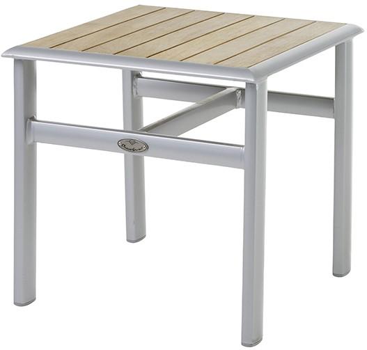 Gartentisch Beistelltisch SEVILLA Aluminium/Teak