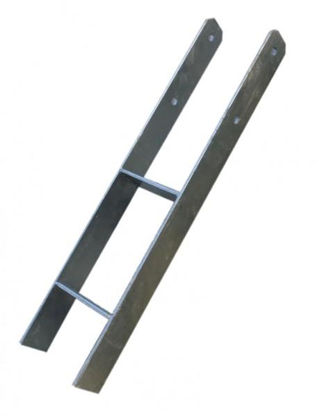 Pfostenträger 12 x 12 cm H-Form, 80 cm