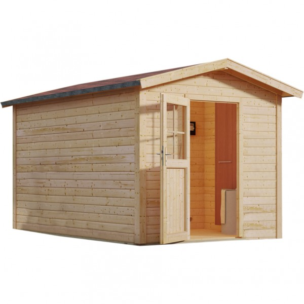 karibu gartensauna bosse 2 mit vorraum 2 31 x 3 99 m 38 mm mit 9 kw ofen sauna ebay. Black Bedroom Furniture Sets. Home Design Ideas
