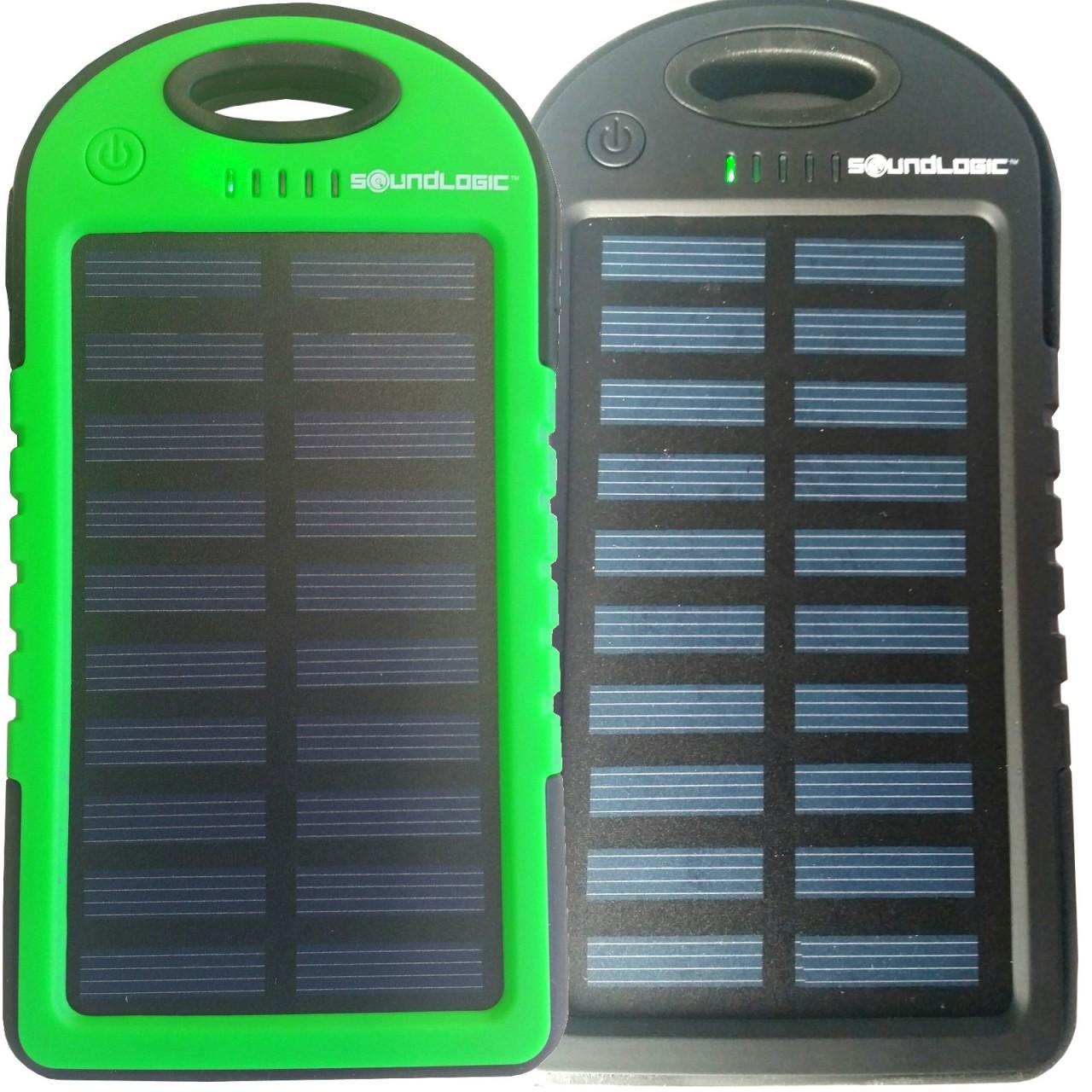 Powerbank SOLAR mobiler Akku 5000mAh - Schwarz