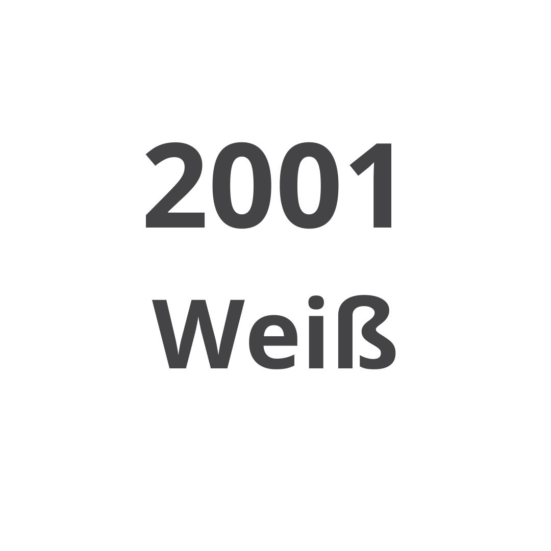 2001 Weiß