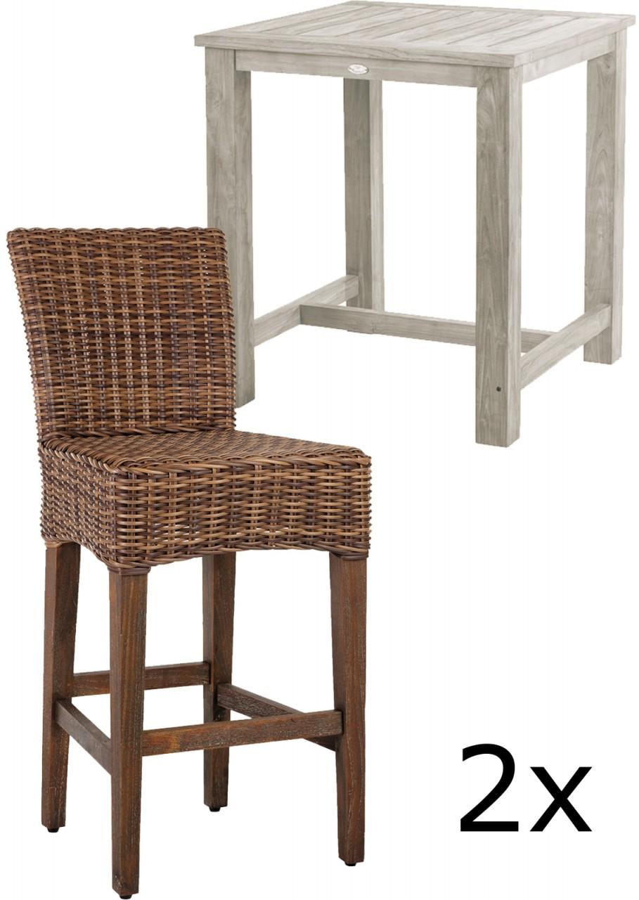 Gartenmobel Alu Ikea : Rattanstuhl LAVEZZI  Korbstuhl mit Sitzkissen  Esszimmerstuhl Braun