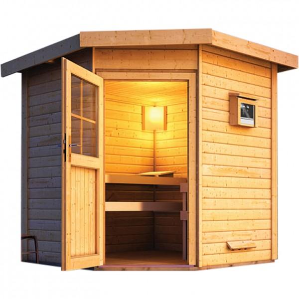 gartensauna heikki 2 31 x 2 31 m 38 mm mit 9 kw ofen saunahaus au ensauna sauna ebay. Black Bedroom Furniture Sets. Home Design Ideas