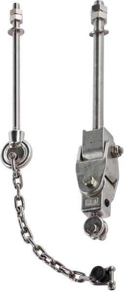 Schaukelhaken mit Sicherheitskette Edelstahl für mehrsitzigen Schaukelsitz