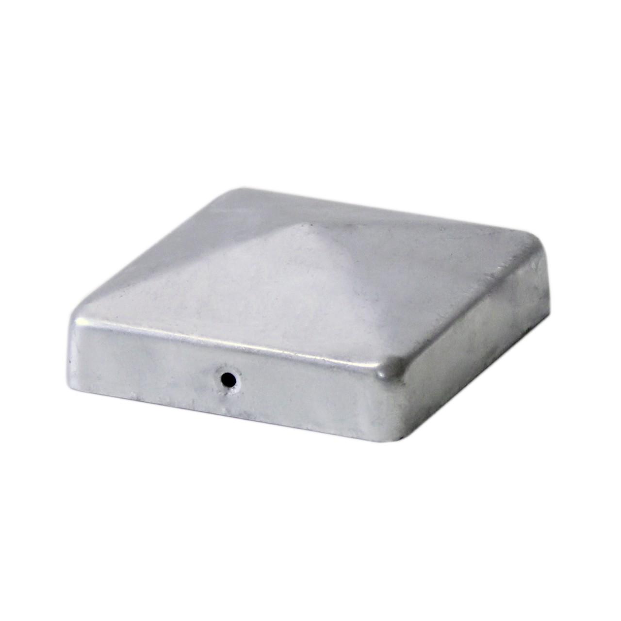 Pfostenkappe Pyramide 71 mm, 91 mm feuerverzinkt, Edelstahl - 71 mm feuerverzinkt
