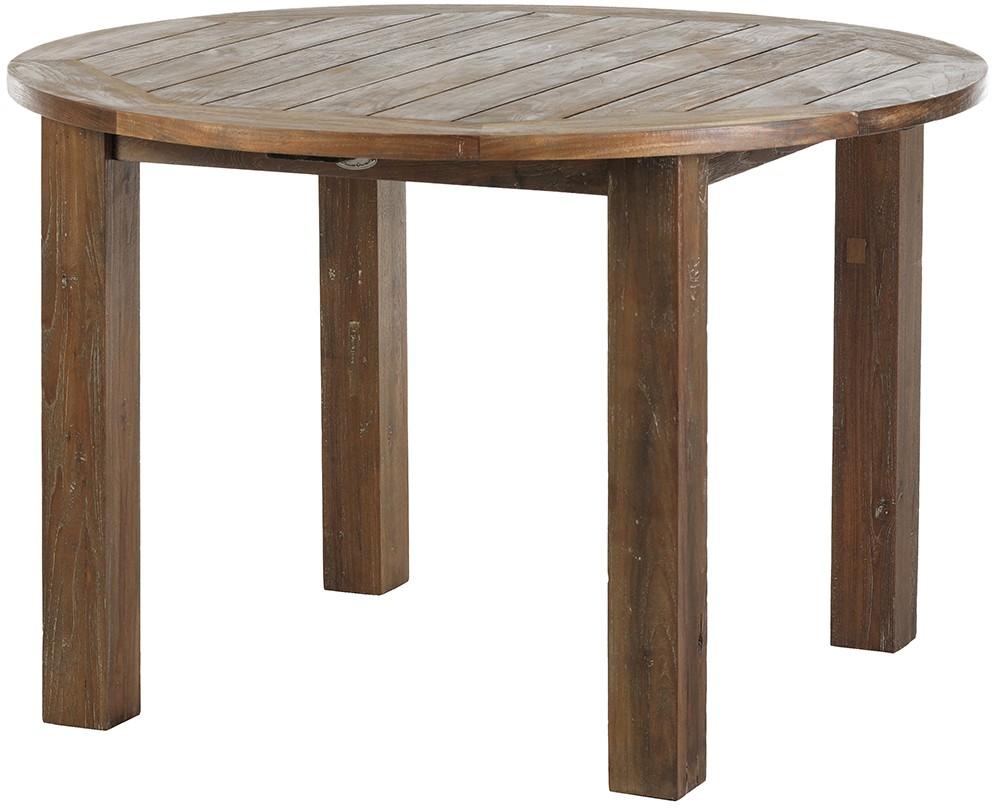 Gartentisch Tisch BELMONT Recycled Teak Gealtert Ø 120 cm rund