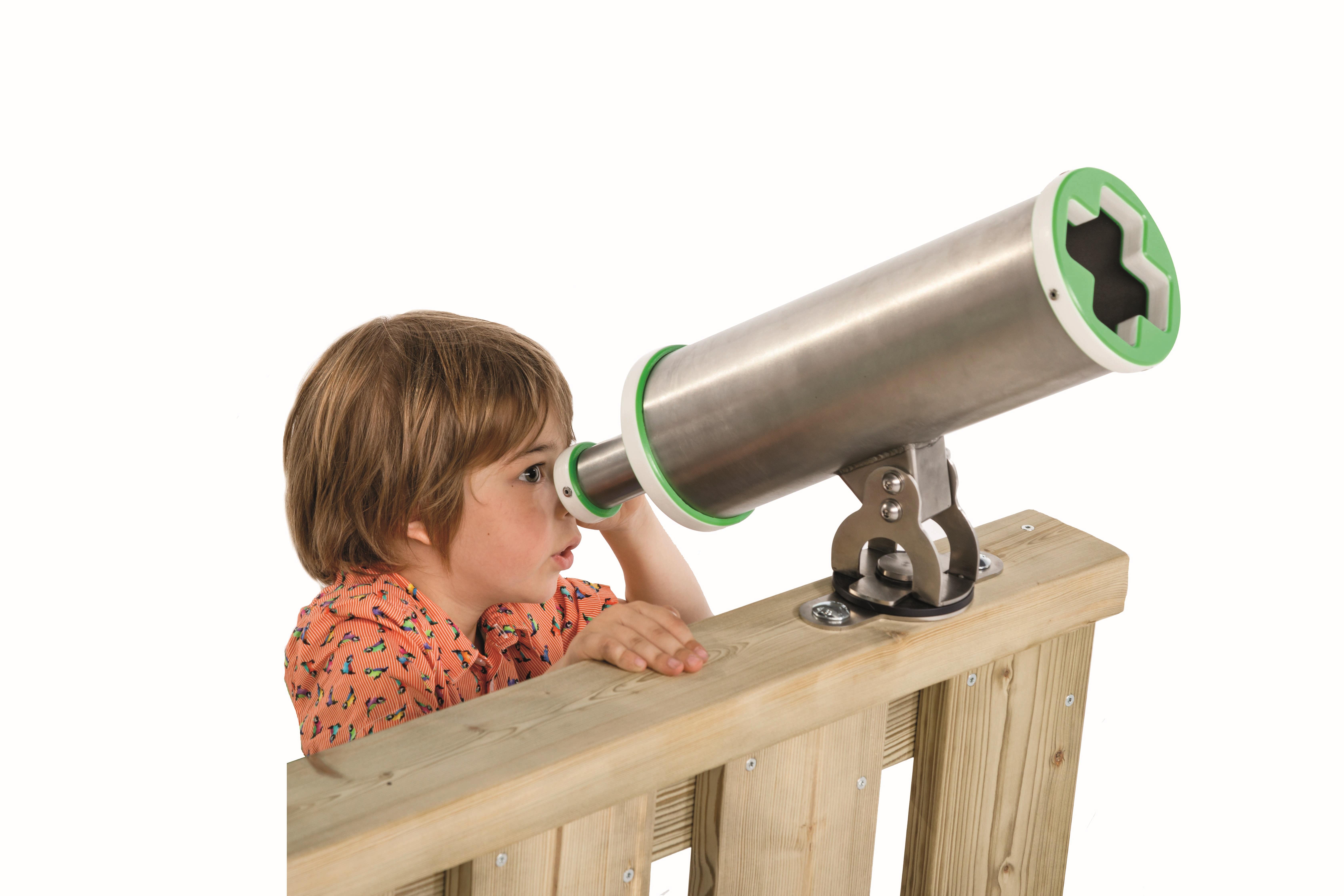 Spielturm teleskop fernrohr apfelgrün sport spiel