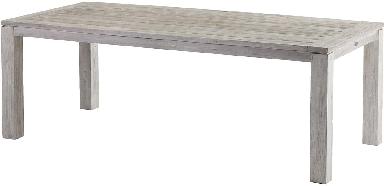 Gartentisch Tisch RENNES Recycled Teak Seawashed 220 cm eckig