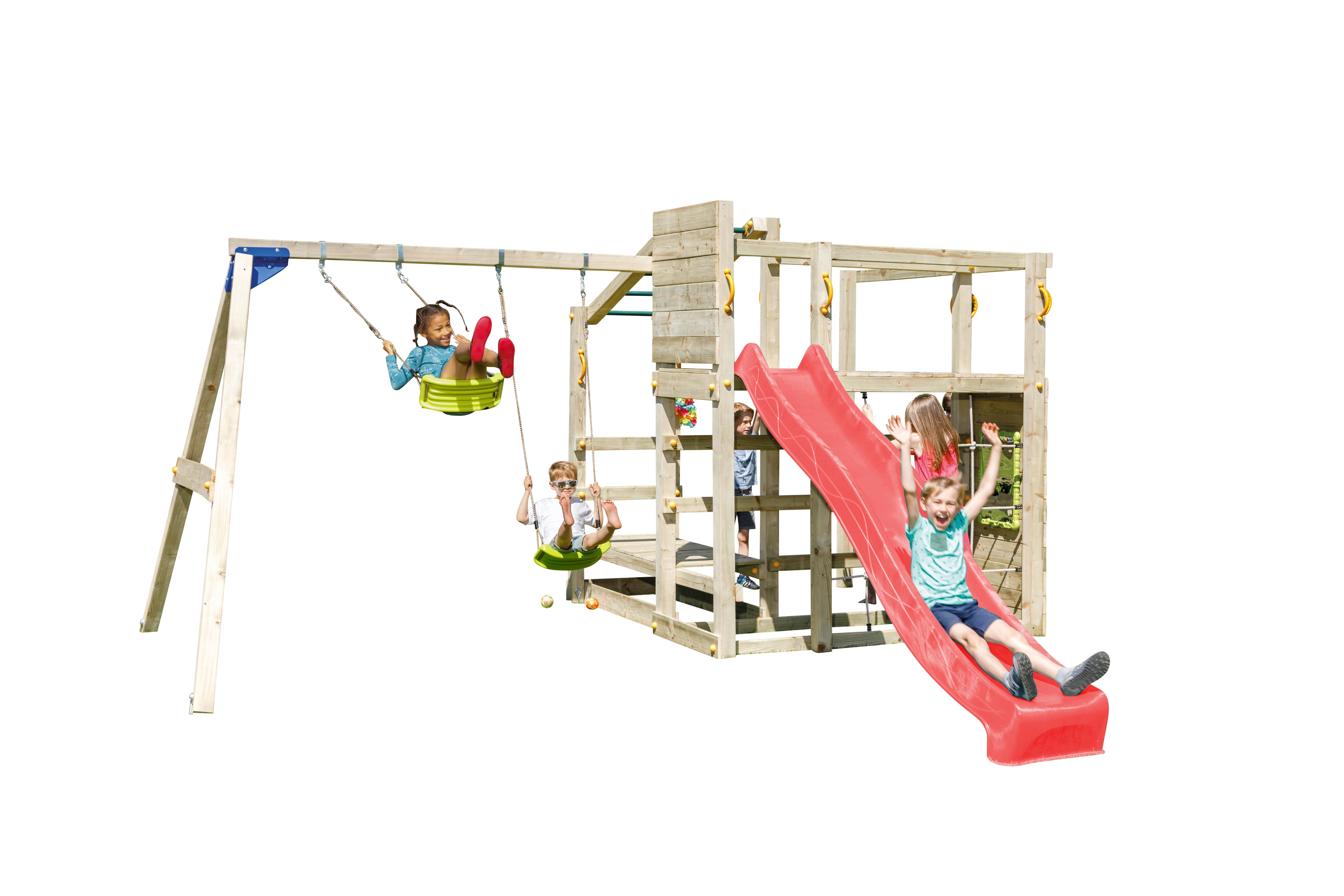 Doppelschaukel Mit Klettergerüst : Spielturm crossfit mit rutsche doppelschaukel