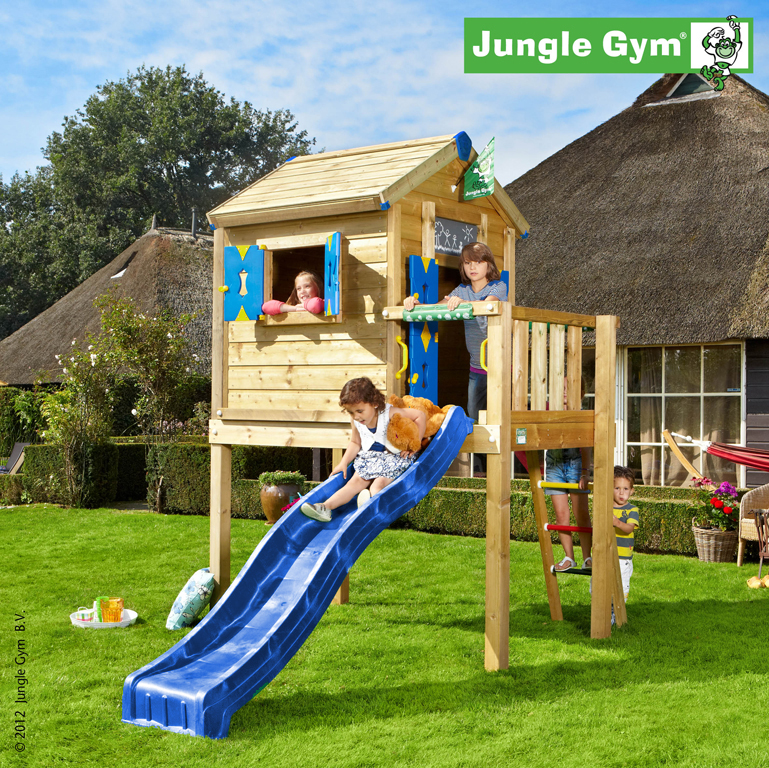 jungle gym spielhaus playhouse l spielturm auf stelzen mit. Black Bedroom Furniture Sets. Home Design Ideas