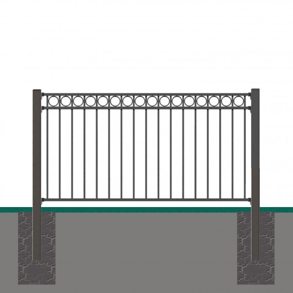 Vorgartenzaun Grund-Set CIRCLE