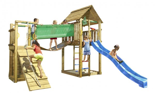 Noahs CABIN - Spielturm Set mit Hängebrücke