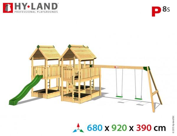 Spielplatzgerate:_Spielturm_mit_Schaukel_und_Rutsche_P8s