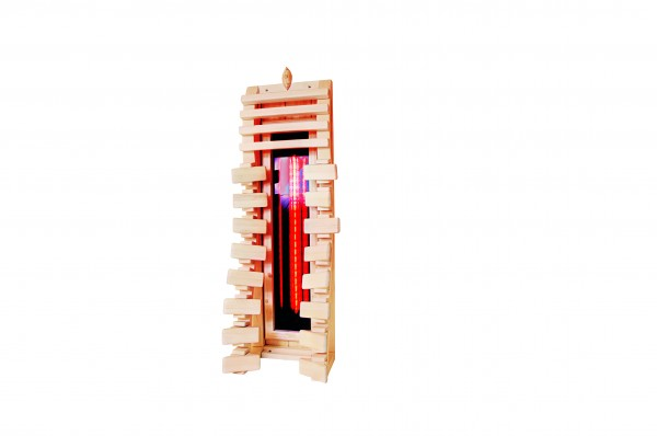 Sauna Rückenlehne ergonomisch mit EVIVA-Strahler