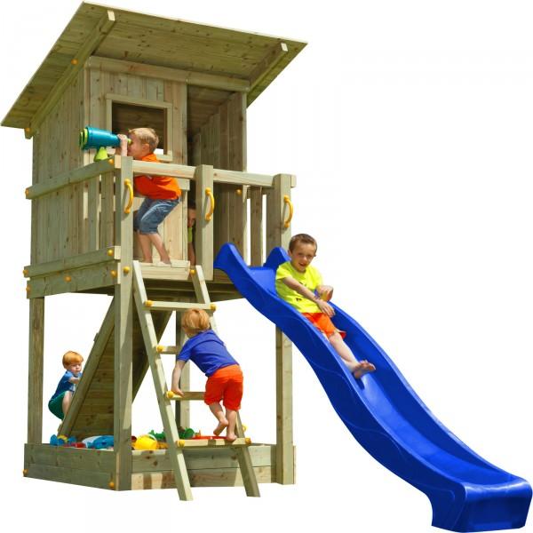 blue rabbit spielturm beach hut mit rutsche rampe mit. Black Bedroom Furniture Sets. Home Design Ideas