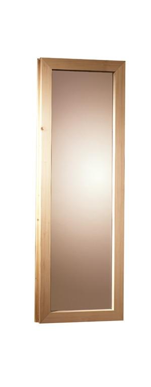 Sauna Fenster aus bronziertem Isolierglas 42 x 122 cm