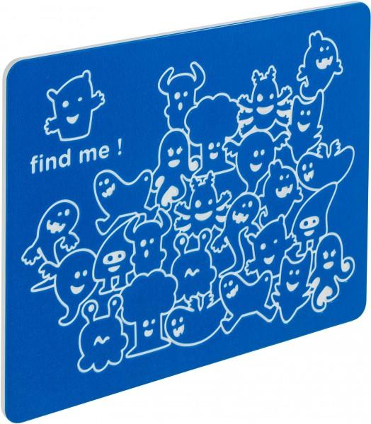 Spielwand FIND ME Blau 73,5 x 58,5 cm