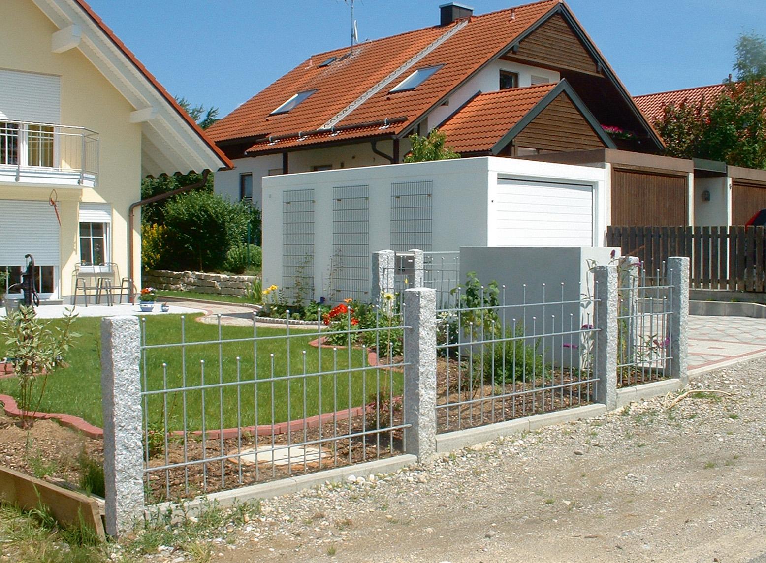 ... Gartenzaun 4 M Stahl By Stahl Doppeltor Madrid Gartenzaun Metall  Vorgartenzahl ...