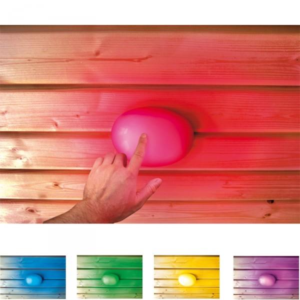 karibu sauna farblichtanwendung led mit touchfunktion. Black Bedroom Furniture Sets. Home Design Ideas