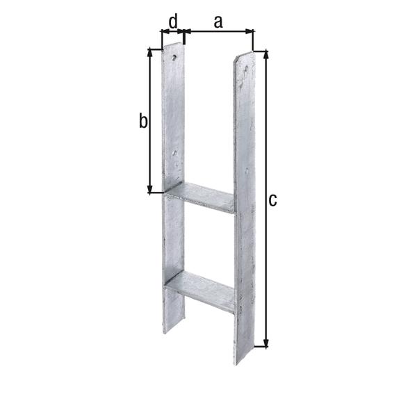 h pfostentr ger zum einbetonieren 141 mm spielturm. Black Bedroom Furniture Sets. Home Design Ideas