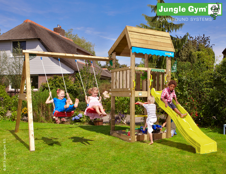 jungle gym lottas home spielturm set mit schaukel rutsche sandkasten leiter ebay. Black Bedroom Furniture Sets. Home Design Ideas