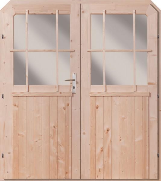 Gartenhaus Doppelflügeltür naturbelassen
