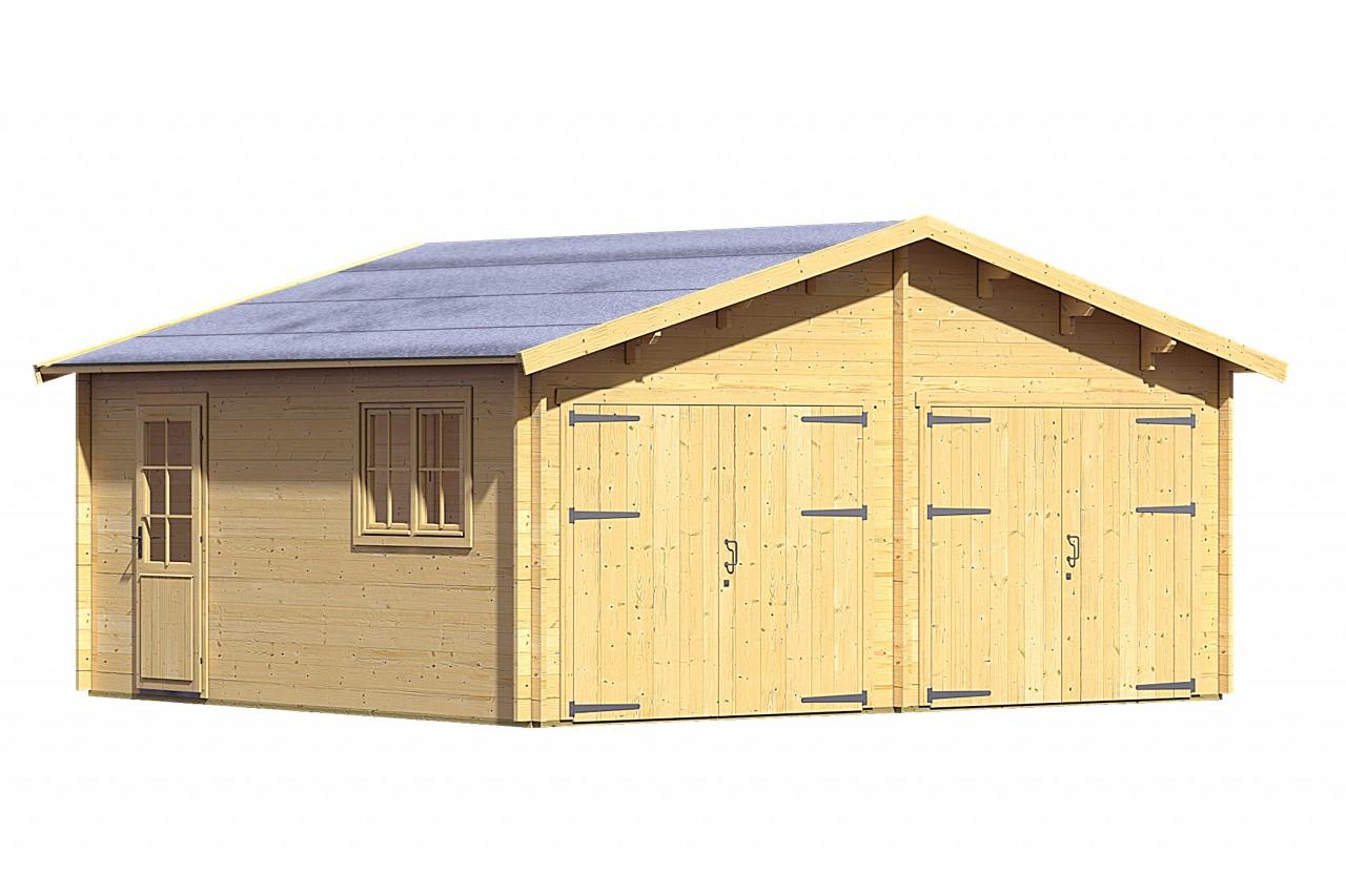 Garage DOPPELGARAGE 40 MM naturbelassen