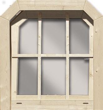Gartenhaus Fenster (Dreh/Kipp) (Friesenfenster) 40 mm naturbelassen