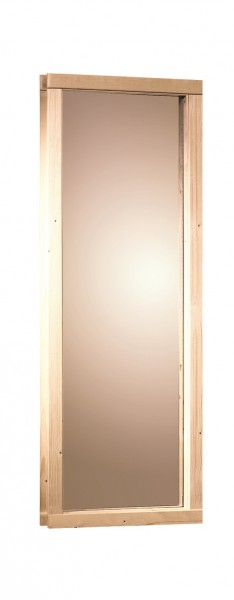 Saunafenster 68 mm bronziert 49 x 107,5 cm