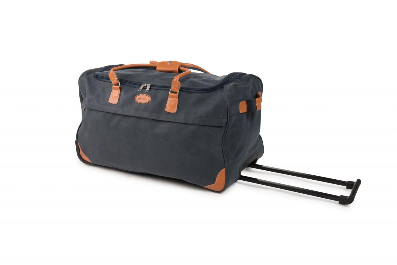 Rollenreisetasche 40 L Lederlook Indigo Travel Bag