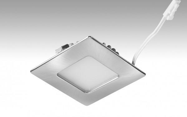 NV-LED-Downlight Shot-Quadro | 3,4 Watt Edelstahl 238