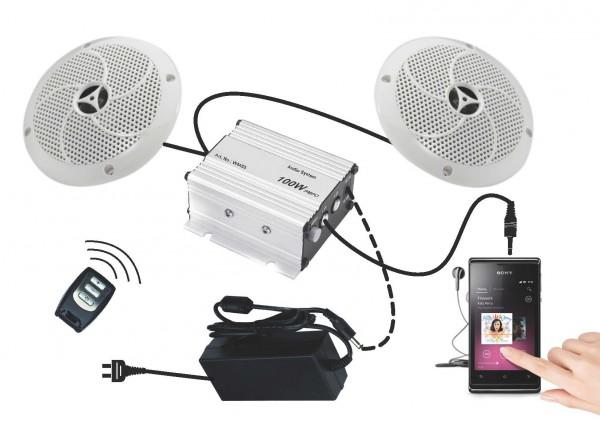 Bluetooth Lautsprecher Set PREMIUM mit Fernbedienung