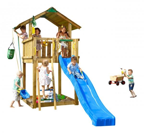 jungle gym spielturm chalet kletterturm mit rutsche leiter. Black Bedroom Furniture Sets. Home Design Ideas