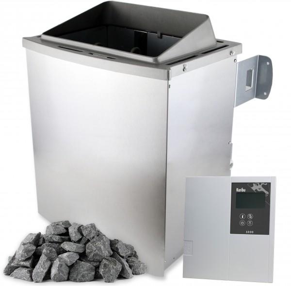 Saunaofen 9 kW CLASSIC mit Saunasteuerung Saunasteine Verdampfer
