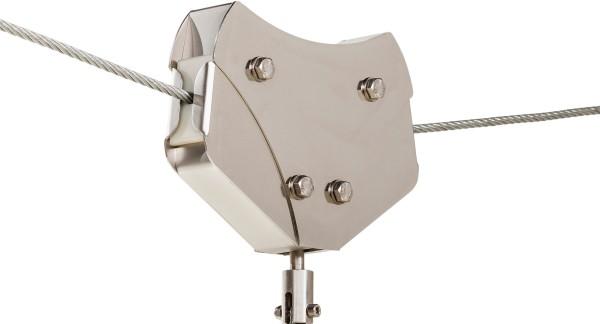 Laufkatze mit automatischer Bremse für Seilbahn Edelstahl