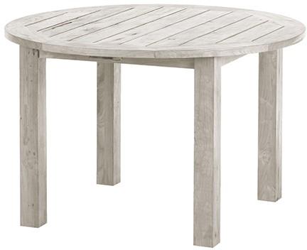 Gartentisch Tisch BELMONT Recycled Teak Seawashed Ø 120 cm rund