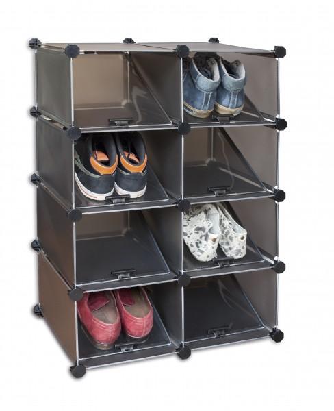 Schuhregal Kunststoff für 16 Paar Schuhe