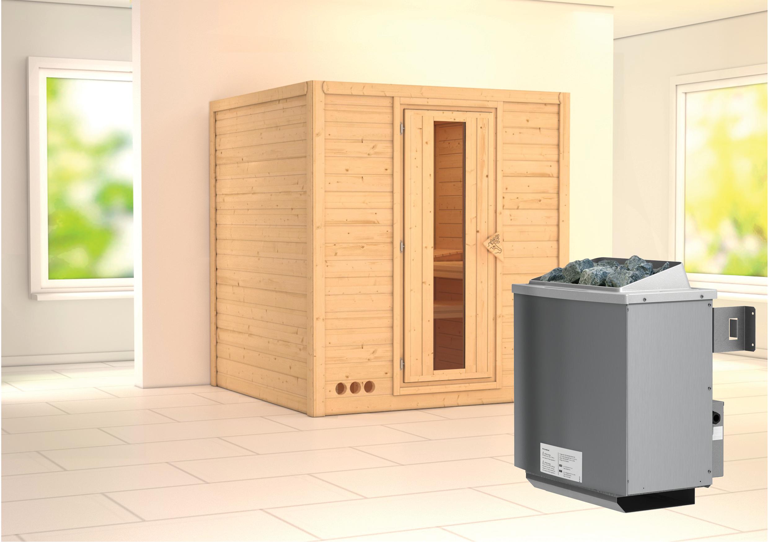 karibu massivholzsauna mojave 1 93 x 1 84 m 40 mm mit 9 kw ofen sauna heimsauna ebay. Black Bedroom Furniture Sets. Home Design Ideas